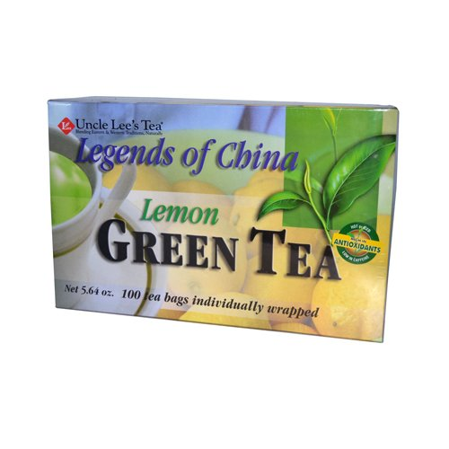 Uncle Lees Tea Legends Of China Lemon Green Tea 100 Bags