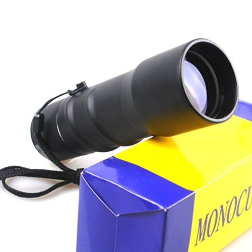 Happiness At Home 16X40 Compact Sports Monocular Telescope Pocket Mono Spotting Scope With Pouch Black