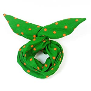 Amazon.com : Women Orange Dots Printed Bendable Hair Scarf Wire