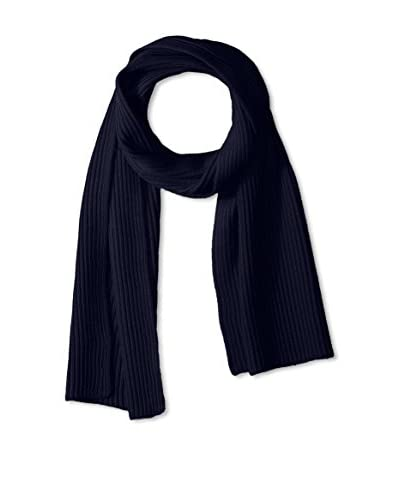 Portolano Men's Ribbed Scarf Knit, Navy