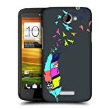 Head Case Designs Bird Grey Neon Feathers Hard Back Case Cover for HTC One X