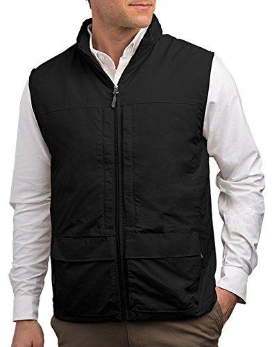 SCOTTeVEST Men's Q.U.E.S.T. Vest - 42 Pockets - Photography, Travel Vest BLK L (Scottevest Quest compare prices)