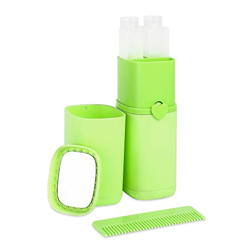 Bluelasers Portable Toothbrush Toothpaste Holder Cup for Travel, Wash Supplies Toothpaste Case Cover Protector for Travel Camping Bath (Green)