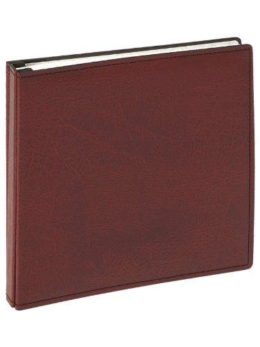 JU-102 Buschraubenalbum Premium Kunstledereinband ohne Pergamin, 100 weiße Seiten 37 x 37cm rot