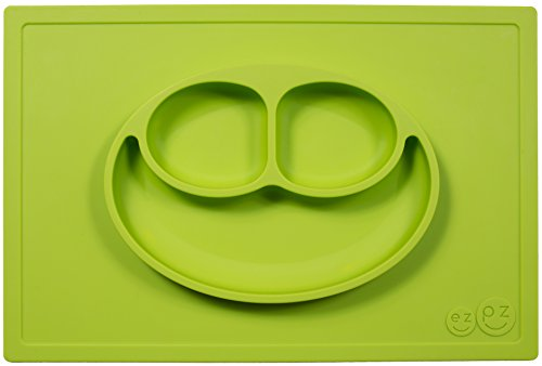 ezpz Happy Mat - One-piece silicone placemat + plate - 1