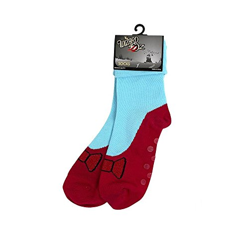 [Wizard of Oz Socks Dorothy Ruby Red Non Skid Socks] (Wizard Of Oz Witch Socks)
