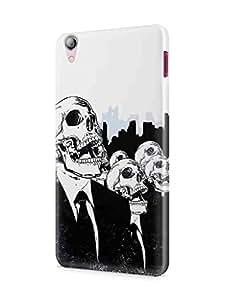 Cover Affair Skull Printed Back Cover Case for Lenovo S850
