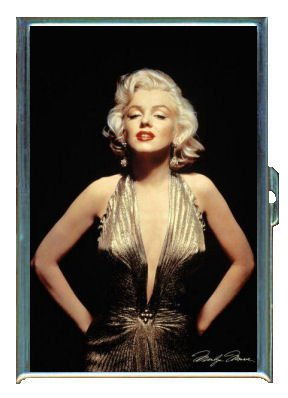 ID CREDIT CARD HOLDER OR CIGARETTE CASE: MARILYN MONROE SEXY GOLD DRESS BY PENNY SILVER