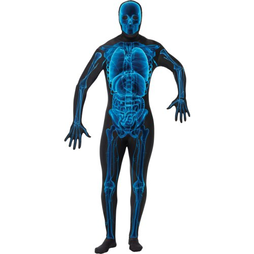 X-Ray Skin Jumpsuit Costume Displaying Bones and Organs