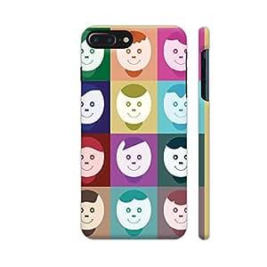Colorpur Happy Smiley Faces Designer Mobile Phone Case Back Cover For Apple iPhone 7 plus   Artist: Designer Chennai