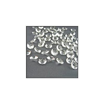 2000 Diamond Table Confetti Wedding Bridal Shower Party Decorations 1 Carat/ 6.5mm Clear by Perfectly Presented