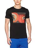 Dirk Bikkembergs Camiseta Manga Corta (Negro)