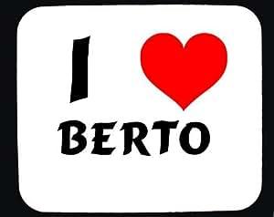 Amazon.com: I Love Berto custom mouse pad (first name/surname/nickname