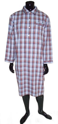 Men's Classic Country Check Nightshirt - Blue and Red