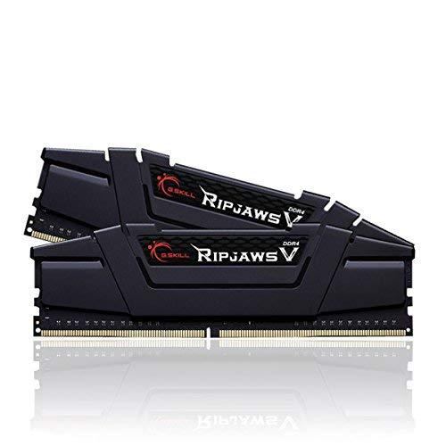 G.Skill Ripjaws V Series 16GB (2 x 8GB) 288-Pin SDRAM PC4-28800 DDR4 3600MHz CL18-22-22-42 1.35V Desktop Memory Model F4-3600C18D-16GVK (Color: Black, Tamaño: 16 Gb)
