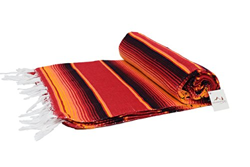 vibrant-orange-red-black-lightweight-saltillo-blanket-perfect-as-a-throw-or-as-a-yoga-towel-hand-wov
