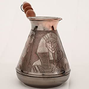 "Turkish Greek Coffee Pot ""Egypt"" Volume 23.7 Oz - 700 ML (Ibrik, Briki, Cezve, Turka) by Atlant Inc"