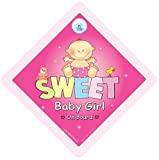 Baby On Board Sweet Baby Girl On Board Car Sign Baby on Board Decal Bumper Sticker Baby On Board Sign Baby Car Sign Bumper Sticker Style Decals Baby Sign Baby Car Sign