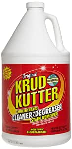 Krud Kutter KK01 Clear Original Concentrated Cleaner Degreaser/Stain Remover with No Odor, 1 Gallon