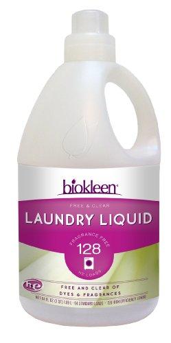 Biokleen Laundry Liquid, Free & Clear, 64 Ounces