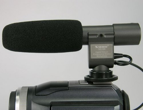 Sg-108 Shotgun Professional Dv Stereo Microphone For Canon Eos550D 600D Rebel T3I T2I Nikon D800