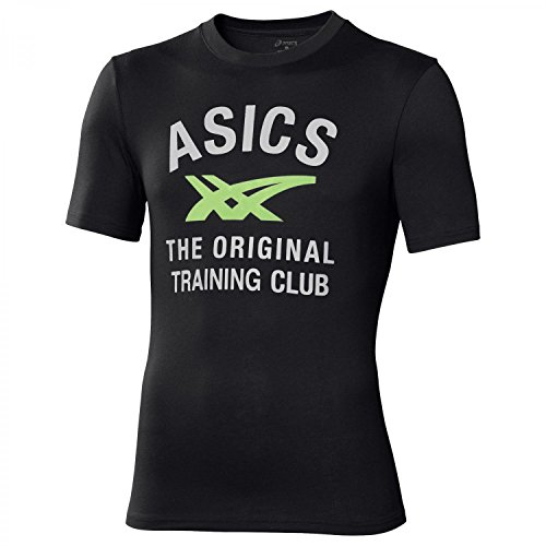 Asics T-shirt da uomo a maniche corte Stripes Tee Performance Black X-Large