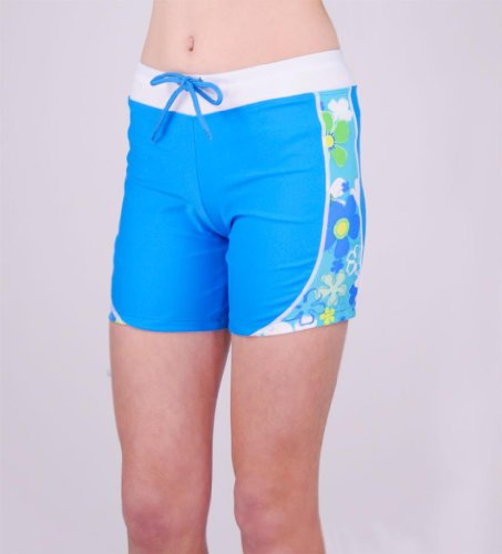 Tuga Girls Swim Shorts (UPF 50+), Azure, 6/7 yrs