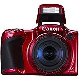 """Canon Powershot SX410 IS Appareil photo numérique Compact 20,5 Mpix Ecran LCD 3"""" Zoom Optique 40 x - Rouge"""