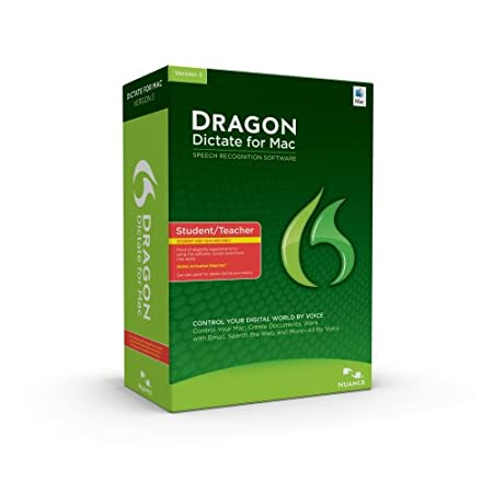 Dragon Dictate Student/Teacher Edition, Version 3.0 (Mac)