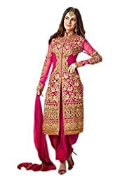 Latest Wize Collections Pink Embroidered Unstitched Dress Material