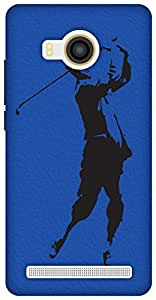 The Racoon Grip The Golfer hard plastic printed back case / cover for Vivo X Shot