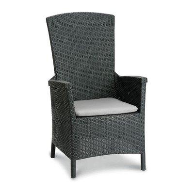 BEST Relax-Sessel Capri, graphit / hellgrau von BEST auf Gartenmöbel von Du und Dein Garten