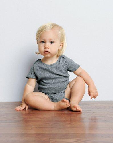 Bella B100 5.8 Oz. Infant'S Baby Rib One-Piece - White - 12-18Mos front-911626