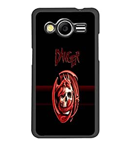 PrintDhaba Danger D-4262 Back Case Cover for SAMSUNG GALAXY CORE 2 G355H (Multi-Coloured)