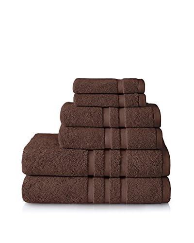Chortex Irvington 6-Piece Towel Set, Espresso