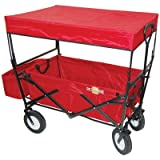On The Edge 900124 Red Folding Utility Wagon With Handle