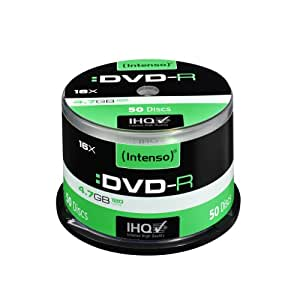 Intenso 4101155 - Pack de 50 DVD-R, 16x, 4.7 GB