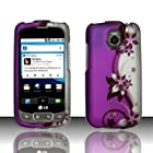 PURPLE VINES Hard Rubber Feel Plastic Design Case for LG Phoenix P505/ Thrive P506 [In Twisted Tech Retail Packaging]