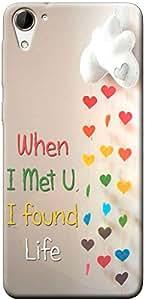 Fashionury Printed Back Case Cover For HTC Desire 826 -Print35478