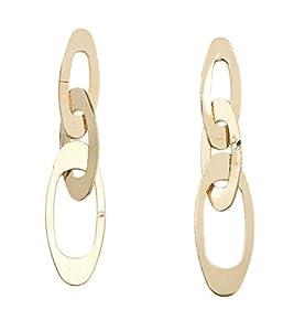 R&T - P50794 - Boucles d'Oreilles Pendantes Femme - Plaqué Or - Pendants