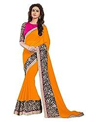 Offo Deals Partywear Traditional Orange Women Saree ss-1804c