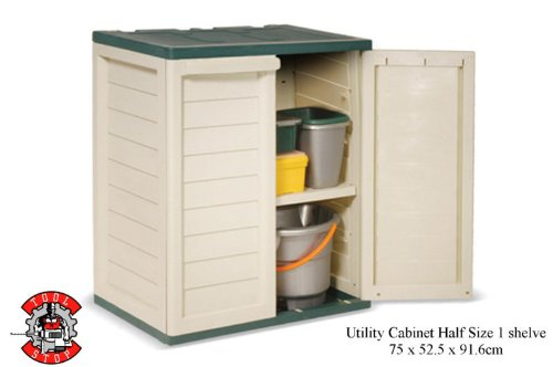 1/2 Size Plastic Storage Utility Cabinet Chest Shed Box 75 x 52 x 92cm