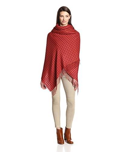 Alicia Adams Women's Alpaca Wool Wrap, Orange/Red