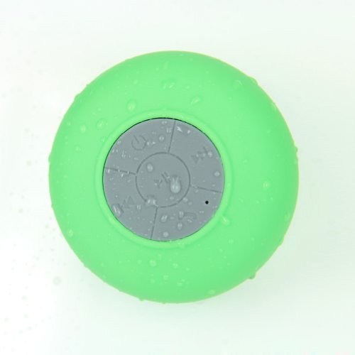 Bluetooth Waterproof Speaker For Bathroom Compatible With Iphone6/5/5S And All Android Devices (Green)