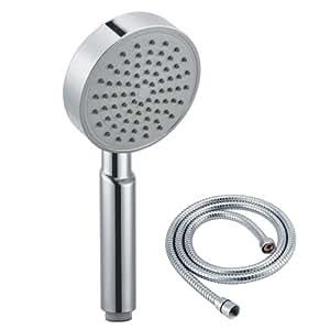 kes kp115 single function handheld shower heads with hose chrome hand held showerheads. Black Bedroom Furniture Sets. Home Design Ideas
