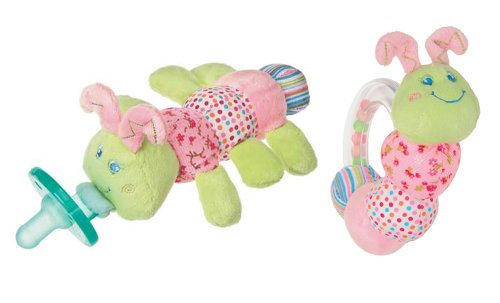 Mary Meyer Cutsie Caterpillar Wubbanub And Rattle front-1072914