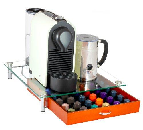 Decobros Crystal Tempered Glass Nespresso Storage Drawer