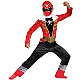 Disguise Saban Super MegaForce Power Rangers Red Ranger Classic Boys Costume, Small/4-6