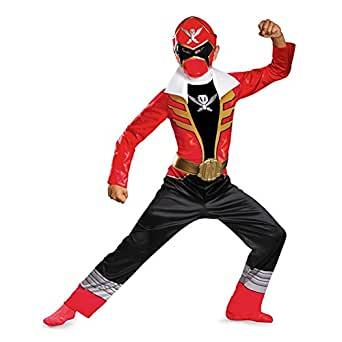 Disguise Saban Super MegaForce Power Rangers Red Ranger Classic Boys Costume, Medium/7 8