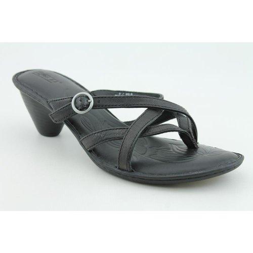 Cheap Born Funi New Slides Sandals Shoes Black Womens (B004IA0EI6)